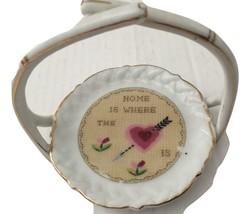 Rare Vintage Set Of 8 Porcelain Drink Coasters & Holder Ardalt Japan Gol... - $56.06