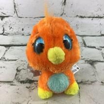 Hatchimals Plush Orange Bird Silver Wings Stuffed Animal Soft Toy By Spin Master - $11.88