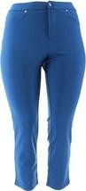 Liz Claiborne Ponte Knit Slim Leg Pants Deep Blue 16P NEW A256509 - $13.83