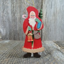 Vintage Old World Santa Claus Ornament Wooden Christmas Wood Rustic Taiwan - $21.77
