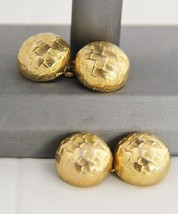 VINTAGE RETRO MENS JEWELRY CUFFLINKS CHUNKY GOL... - $15.00