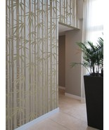 Stencil Bamboo Allover, DIY Reusable wall stencil instead of wallpaper - $79.95