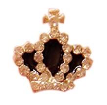 10 PCS Lovely Crown Design For Nail Art Decoration, Black image 2
