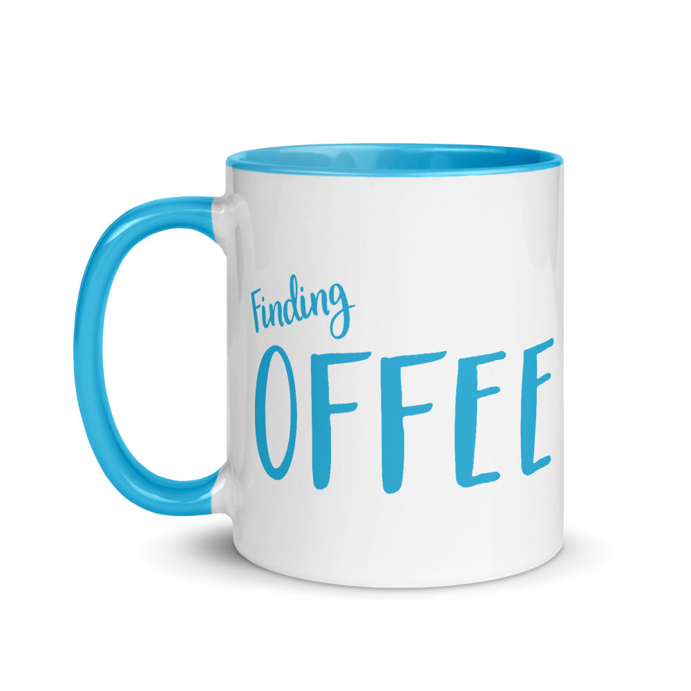 Primary image for Finding Coffee- Mug with Color Inside (Blue color/Funny mug design/ find the wor