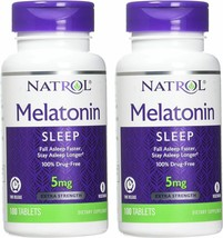Natrol Melatonin Time Release Tablets, 5mg, 100 Count (Pack of 2) - $19.75