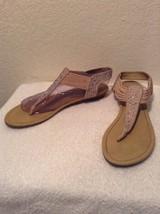 Coach Womens India-GM Slip On Ankle Strap Gladiator Sandals Rhinestones Size 9M - $24.94