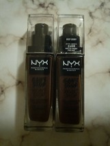 2 NYX Can't Stop Won't Stop 24 Hour Full Coverage Foundation CSWSF25- De... - $15.25