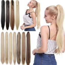 Real Thick Claw Ponytail Hair Piece Clip in Hair Extensions As Human Hair image 10