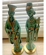 Vintage Asian Sculptures 1958 Universal Statuary Chicago Corp Midcentury... - $332.45