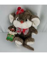 "Vintage 1987 Commonwealth Lil' Tweaks The Christmas Mouse 9"" Plush Stuff... - $26.23"
