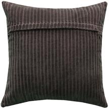 Pillow Decor - Cotton Corduroy Brown Throw Pillow 16x16 image 2