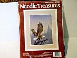 Colorart Cross Stitch Kit Needle Treasures-EAGLE At TWILIGHT-NEW - $12.74