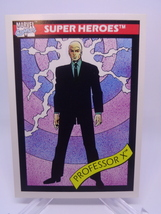 Professor X Impel Marvel Comics collectible card #58 1990 NM Charles Xav... - $1.29