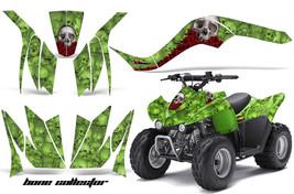 Atv Graphics Kit Quad Decal Wrap For Kawasaki KFX50 KFX90 2007-2017 Bones Green - $129.95