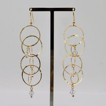 925 STERLING SILVER GOLD PL PENDANT EARRINGS WITH CIRCLES BY MARIA IELPO ITALY image 3