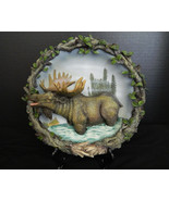 Moose Decorative Collector Plate Figurine Amy & Addy Wild Game Western L... - $36.58
