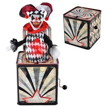 CREEPY EVIL CLOWN JESTER JACK IN THE BOX Halloween Prop LIGHTS AND SOUNDS - €53,39 EUR
