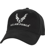 Black Official US Air Force USAF Logo Deluxe Low Profile Adjustable Cap - $10.99