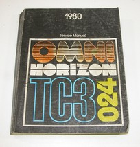 1980 Plymouth Horizon TC3 Dodge Omni O24 Service Manual Good Used Condition - $19.75