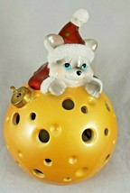 Christmas Holiday Santa Mouse Color Changing Flameless Candle w/ Timer EUC - $9.99