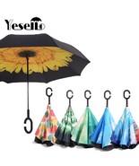 Umbrella Double Layer Reverse Folding Inverted Handle Windproof Designed... - $29.75