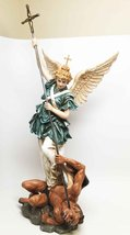 BAROQUE SAINT MICHAEL ARCHANGEL SCULPTURE MICHAELSKIRCHE CHURCH GERMANY ... - £61.18 GBP