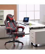 High Back Reclining Office Chair Executive Race Style Gaming Footrest PU... - $169.99