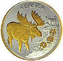 Alaska Mint Moose Tracks Gold &Silver Medallion Proof - $98.98