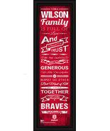 "Personalized Bradley University ""Braves"" 24 x 8 ""Family Cheer"" Framed Print - $39.95"