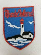 Vintage Voyager Brand Rhode Island Lighthouse Souvenir Patch - $5.27