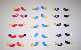 30 Used LEGO Minifig Red Blue Black Arms & Hands - $9.95
