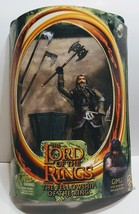 Gimli with battle Axe Lord of the Rings The Fellowship of the rings Acti... - $11.00