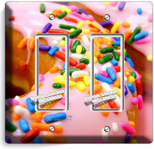 Pink Donuts Rainbow Sprinkles 2 Gfci Light Switch Wall Plates Room Kitchen Decor - $11.69