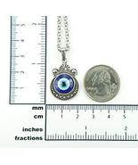 """Nazar Necklace, Crescent Blue Eye Charm Pendant with Rolo Chain (24"""") - $38.60"""