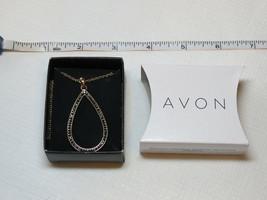 Mujer Avon Brillante Prestige Colgante Collar Tono Dorado F3982231 Nip - $29.60