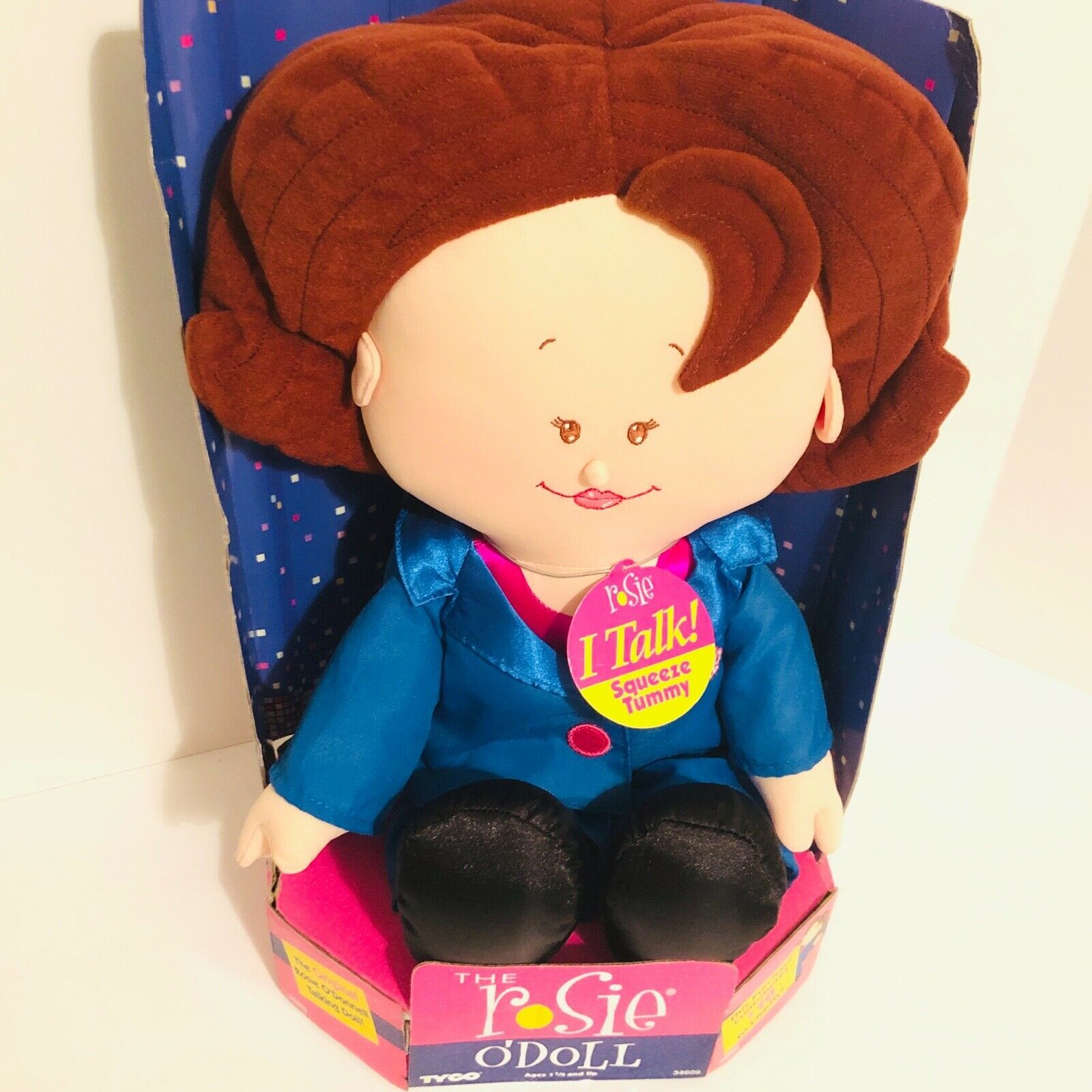 """New 1997 Rosie O'Donnell (O'Doll) Talking Celebrity Plush Doll 18"""" Tyco- Tested image 2"""