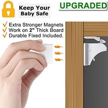 Child Safety Magnetic Cabinet Locks - VMAISI 4 Pack Adhesive Baby Proofi... - $16.52