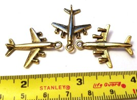 Airplane Airline Jet Fine Pewter Pendant Charm image 2