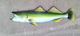 Snook Carved, painted from Palm Tree Frond Dolphin fish art nautical dec... - $69.00