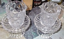 NIB Partylite Quilted Clear Peglites & Bases (2) - $8.59