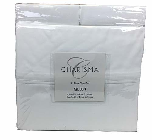 Costco Charisma Sheets White: Charisma Microfiber 6-Piece Queen Sheet Set -White