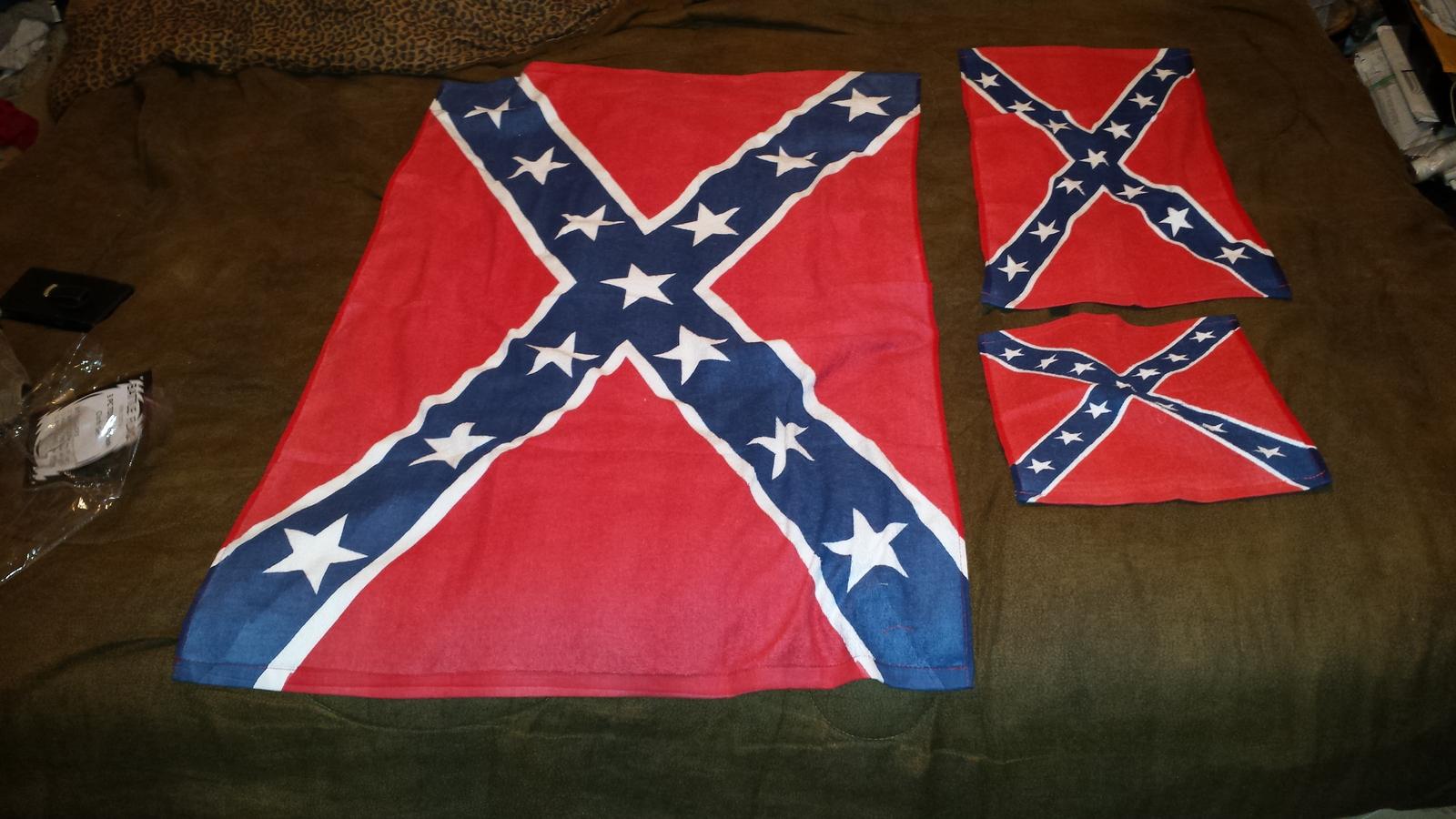 New Rebel Flag Bath Set Towelhand Towel And 50 Similar Items