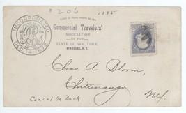 1885 Commercial Travelers Association Syracuse - Chittenango NY Cover w/... - $7.69