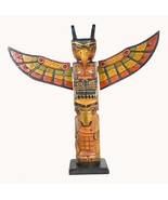 20 Inch Tall Northwest Coast Style Wooden Totem Pole - $34.64
