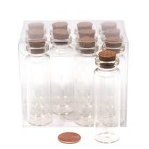 Homeford Mini Glass Tube Corked Jars 3-Inch 12-Pack - $14.21