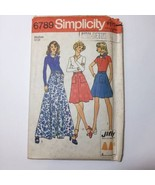 Simplicity 6789 Size 12 14 Jiffy Back-Wrap Skirt in Three Lengths Scarf - $11.64