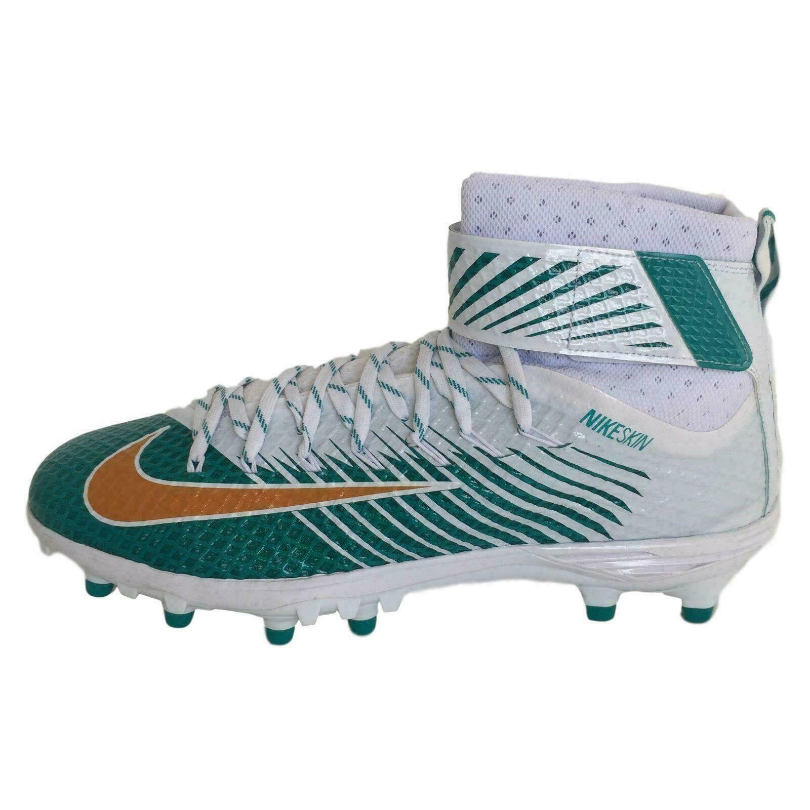 Nike 847588-317 LunarBeast Elite TD Football Cleats Shoes 16 Miami Dolphins UM - $59.37
