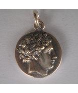 Apollo Silver Coin Pendant - God of Light - Healing - Music - $34.99