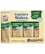 Expect More Lance Captain's Wafers Cream Cheese and Chives Sandwich Crac... - $44.54
