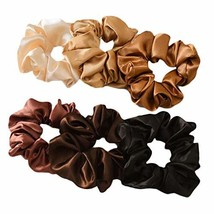 12 Pcs Multicolor Satin Hair Scrunchies Elastic Hair Band Ponytail Hair Ties Hai